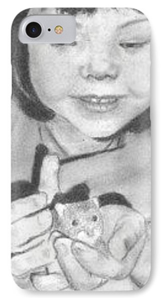 IPhone Case featuring the drawing Annie's Little Friend - Aceo by Ana Tirolese