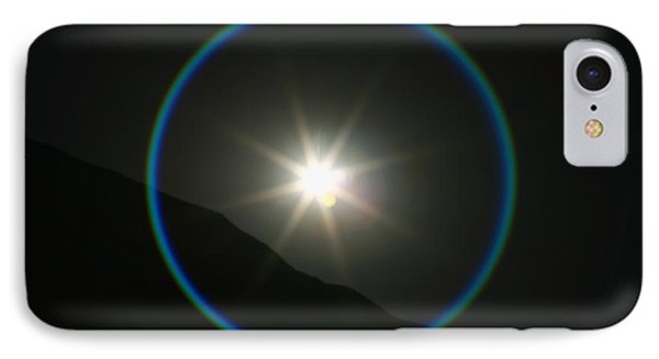 IPhone Case featuring the photograph Annular Solar Eclipse - Blue Ring At Vasquez Rocks by Lon Casler Bixby