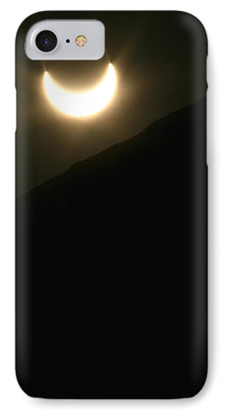IPhone Case featuring the photograph Annular Solar Eclipse At Sunset Number 1 by Lon Casler Bixby