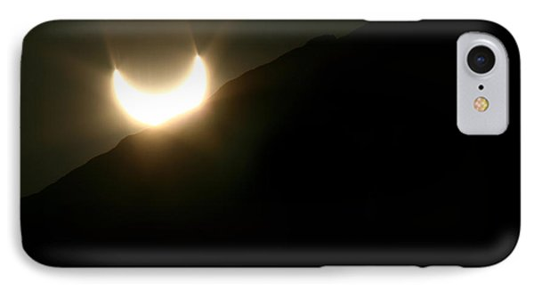 IPhone Case featuring the photograph Annular Solar Eclipse At Sunset Number 2 by Lon Casler Bixby