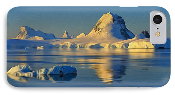 Antarctic Dusk Phone Case by Tony Beck