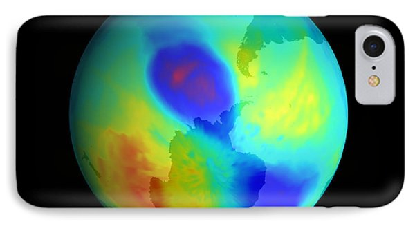 Antarctic Ozone Hole, September 2002 Phone Case by NASA / Science Source