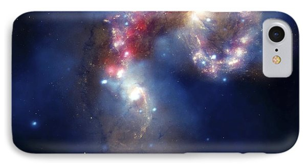Antennae Galaxies, Composite Image Phone Case by Nasa