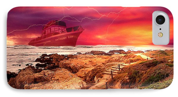 Anthony Boy Waiting Out The Storm Phone Case by Joyce Dickens