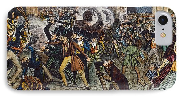 Anti-catholic Mob, 1844 IPhone Case by Granger