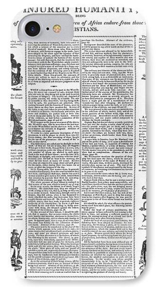 Anti-slavery Broadside Phone Case by Granger