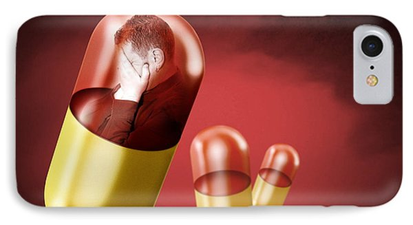 Antidepressant Medication Phone Case by Victor Habbick Visions