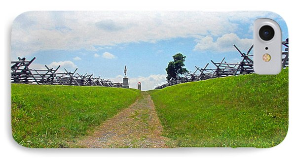 IPhone Case featuring the photograph Antietam Battle Of Bloody Lane by Cindy Manero