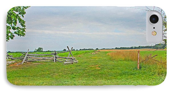 IPhone Case featuring the photograph Antietam Battle Of The Cornfield by Cindy Manero