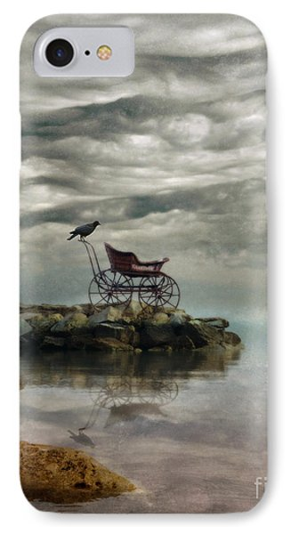 Antique Baby Buggy By The Sea Phone Case by Jill Battaglia