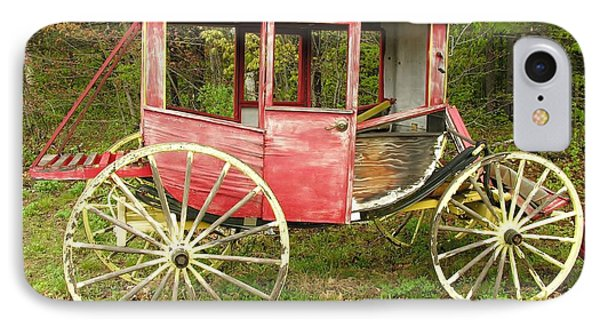 IPhone Case featuring the photograph Old Horse Drawn Carriage by Sherman Perry