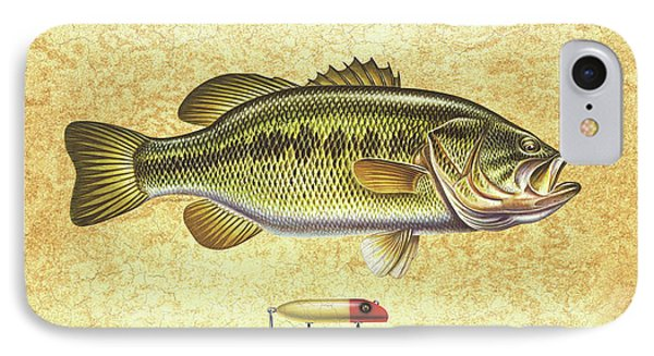 Antique Lure And Bass IPhone Case