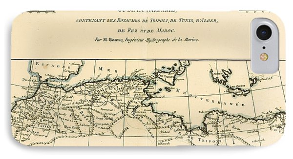 Antique Map Of North Africa Phone Case by Guillaume Raynal