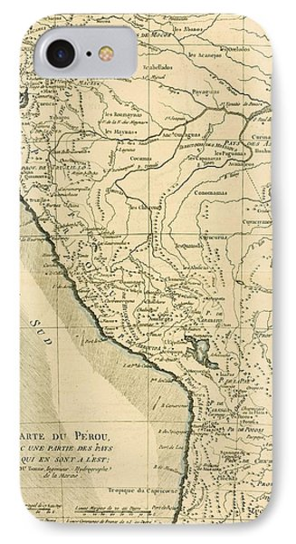 Antique Map Of Peru Phone Case by Guillaume Raynal