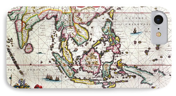 Antique Map Showing Southeast Asia And The East Indies Phone Case by Willem Blaeu