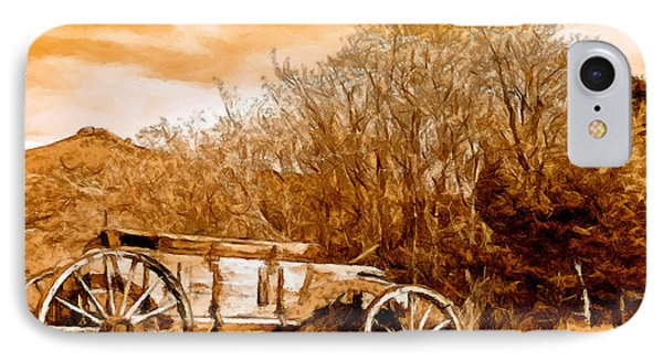 Antique Wagon Phone Case by Bob and Nadine Johnston