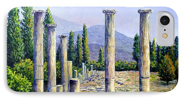IPhone Case featuring the painting Aphrodesias Ruins by Lou Ann Bagnall