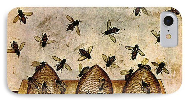 Apiculture-beekeeping-14th Century Phone Case by Science Source
