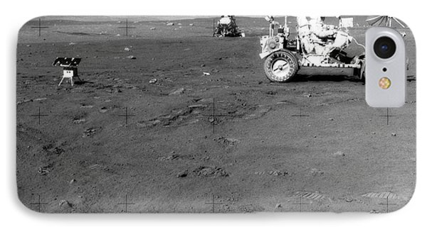 Apollo 17 Image Of Land Rover On Moon Phone Case by Stocktrek Images
