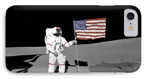 Apollo Astronaut Stands IPhone Case by Stocktrek Images