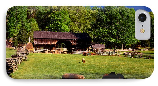 Appalachian Barn Yard IPhone Case by Paul W Faust -  Impressions of Light