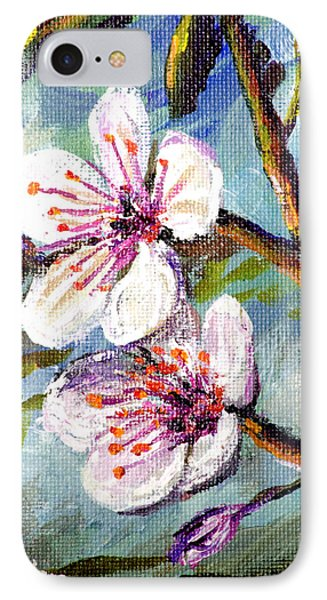 IPhone Case featuring the painting Apple Blossoms by Lou Ann Bagnall