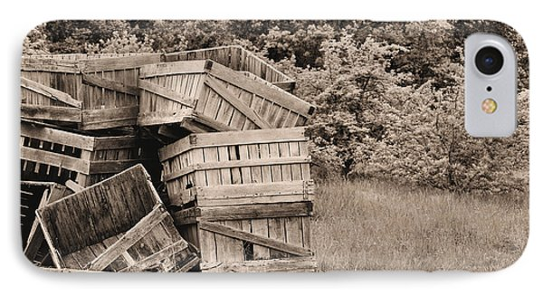 Apple Crates Sepia Phone Case by JC Findley