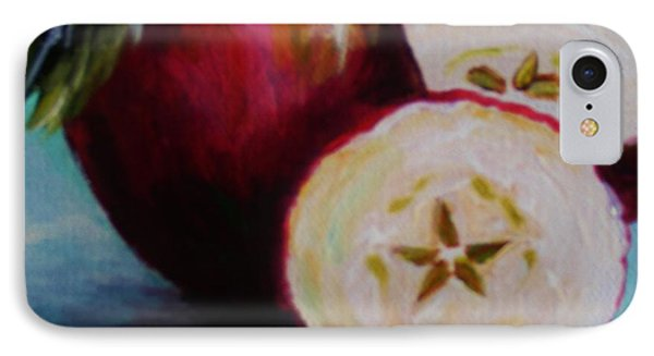 IPhone Case featuring the painting Apple Magic by Karen  Ferrand Carroll