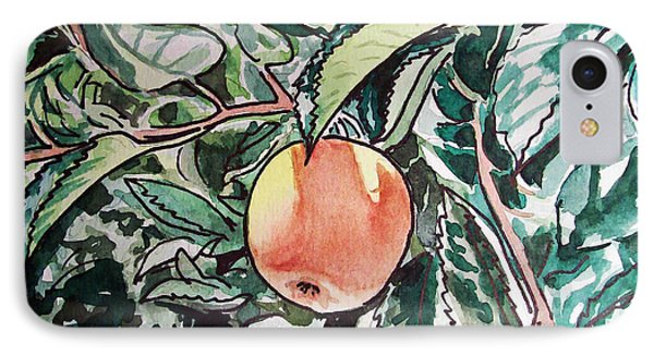 Apple Tree Sketchbook Project Down My Street Phone Case by Irina Sztukowski