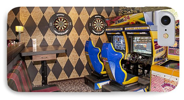 Arcade Game Machines At A Diner IPhone Case by Jaak Nilson
