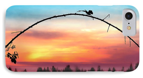Arch Silhouette Framing Sunset IPhone Case by Tracie Kaska