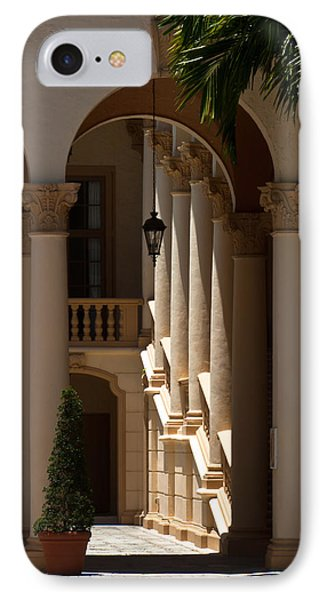 IPhone Case featuring the photograph Arches And Columns At The Biltmore Hotel by Ed Gleichman
