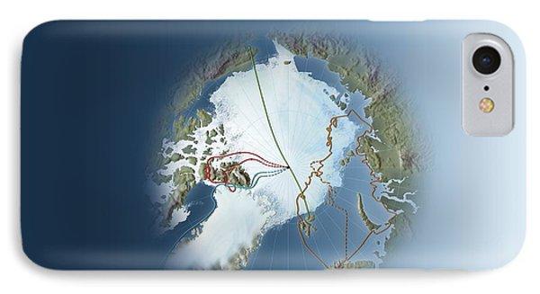 Arctic Exploration, Route Maps Phone Case by Mikkel Juul Jensen