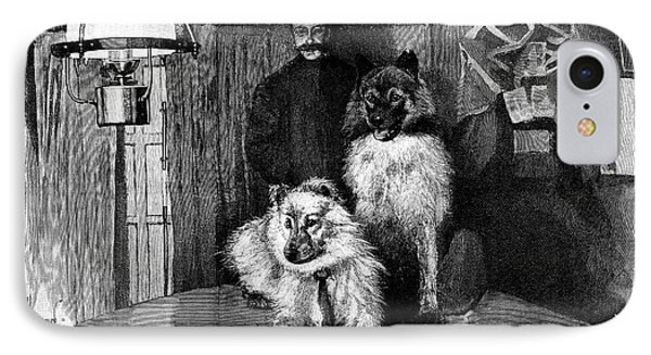 Arctic Explorer And Dogs, 19th Century Phone Case by