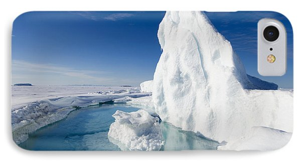 Arctic Sea Ice Melting, Canada Phone Case by Louise Murray