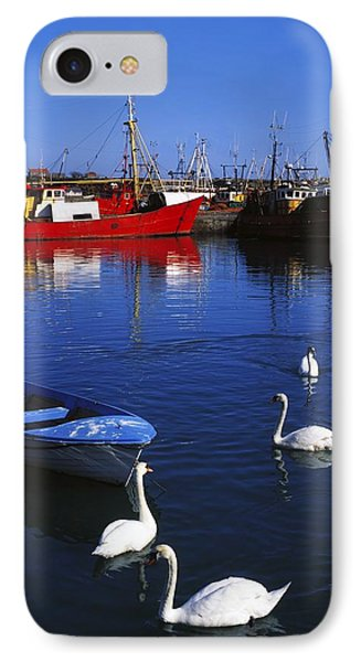 Ardglass, Co Down, Ireland Swans Near Phone Case by The Irish Image Collection