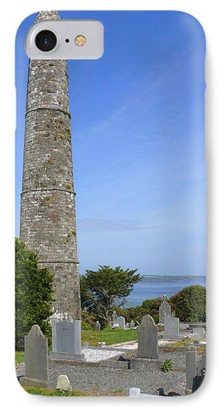 Ardmore Round Tower - Ireland Phone Case by Mike McGlothlen