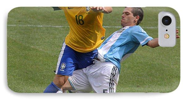 Argentina Vs Brazil Battle II IPhone Case by Lee Dos Santos