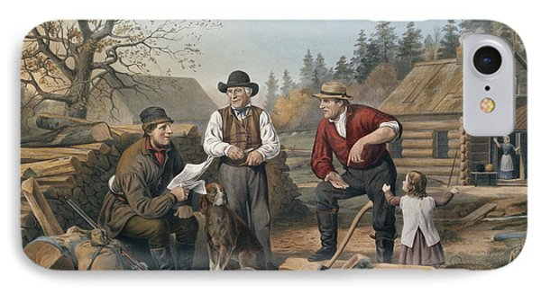 Arguing The Point IPhone Case by Currier and Ives