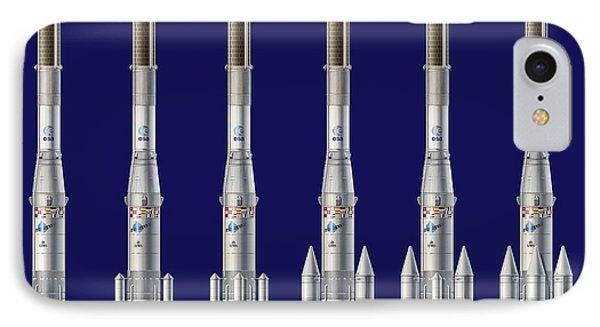 Ariane 4 Rocket Versions, Artwork Phone Case by David Ducros