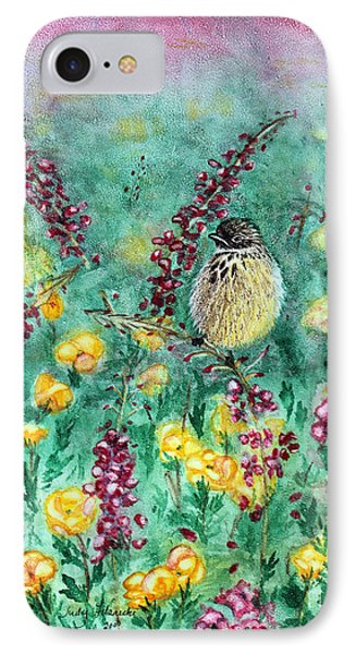IPhone Case featuring the painting Arizona Cactus Wren by Judy Filarecki
