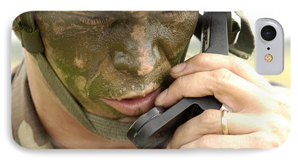 Army Master Sergeant Communicates Phone Case by Stocktrek Images