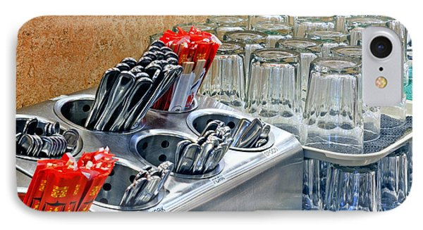 Arranged Glasses And Silverware Phone Case by David Buffington