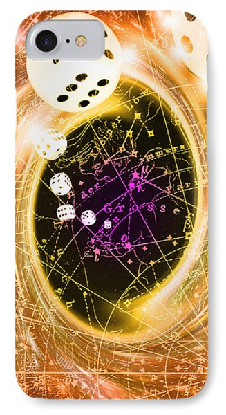 Art Of Dice, A Black Hole And Chance Phone Case by Mehau Kulyk