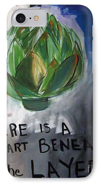 Artichoke IPhone Case by Linda Woods