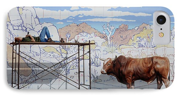 Artist At Work Phone Case by Bob Christopher