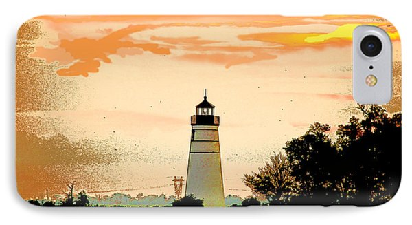 IPhone Case featuring the photograph Artistic Madisonville Lighthouse by Luana K Perez