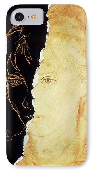 Artist's Abstract Depiction Of Schizophrenia Phone Case by David Gifford
