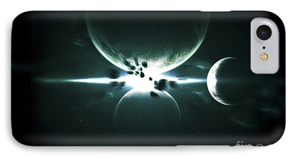 Artists Concept Of A Planet And Its 3 Phone Case by Kevin Lafin