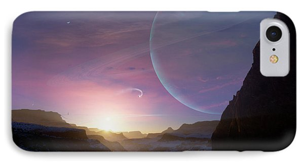 Artists Concept Of A Scene Phone Case by Brian Christensen